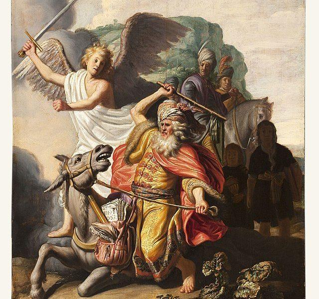 prorok z oślicą na obrazie rembrandta